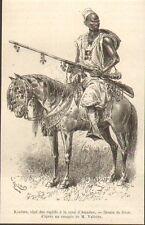 MALI ? KANTARA CHEF DES CAPTIFS COUR AMADOU GRAVURE IMAGE 1884
