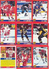 1991-92 SCORE BLISTER PACK HOT CARD INSERT SET OF 10 GRETZKY HULL LEMIEUX JAGR