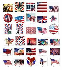 30 Personalized Address Labels US flags Independence Day Buy 3 get 1 free (us3)