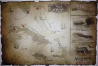 Assassins creed 4 IV Black flag Exclusive Map / Treasure chart - Brand New