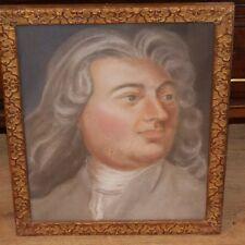 Portrait Au Pastel d'Un Homme Louis XV, époque XVIII ème,