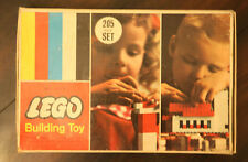 Vintage 60's Lego Building Toy No. 205 Beginner Set with Box & Booklet