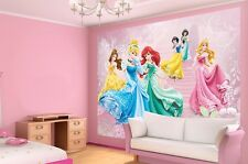 Grand mur murale papier peint photo pour chambre de fille princesse Disney décoration rose