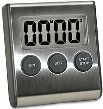 LCD Digital Kitchen Timer, Strong Magnetic Kickstand Cooking Alarm Count Up Down