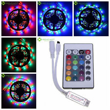 2Pcs 500cm 5M 3528 30W 300 SMD LED RGB Car Lamp Light Strip 24 key IR Controller