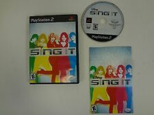 DISNEY SING IT PLAYSTATION 2 PS2 **FREE SHIPPING**COMPLETE**