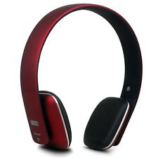 August EP636 Bluetooth Wireless Stereo NFC Headphones with Microphone - Red