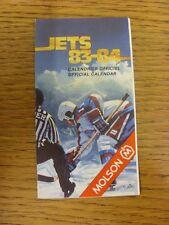 Tarjeta De Accesorio de 1983/1984: hockey sobre hielo-sherbooke chorros (desplegable en el estilo). toda falla