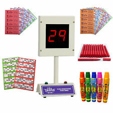 Bingo Starter Kit with Lucky Bingo Machine, Bingo Tickets & Bingo Dabbers