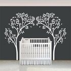 White tree Wall Decal Inspired Removable Art Vinyl Baby Nursery Room Mural Decor