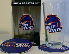 Boise State Broncos Pint Glass and 4 Coasters