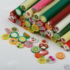 10pcs 3D Nail Art Fimo Canes Stick Rods Polymer Clay Stickers Tips Decoration PW