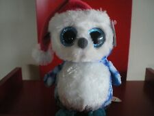 Ty Beanie Boo Icicle the owl 6 inch NWMT. IN STOCK NOW.
