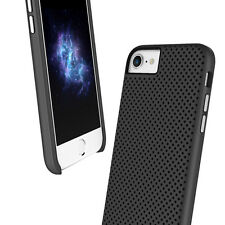 "Prodigee Breeze Black iPhone 7 4.7"" Dual Layer Thin Perforated Case Slim Cover"