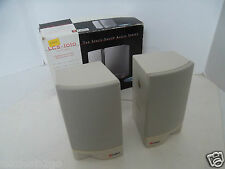 Labtec 2-Piece Computer Speakers Space-Saver Audio 4 Ohms 80Hz-16KHz LCS-1010