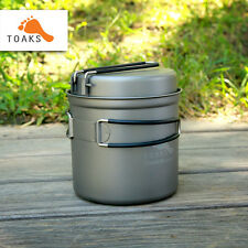 Toaks Titanium Outdoor Picnic Camping Cooking Backpack Pot 1100ml Pot W/ Fry Pan