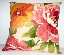 New 16x16 Vibrant Floral Indoor Outdoor Throw Pillow - Sun & Water Resistant
