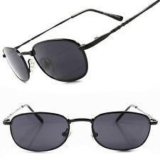 Urban 80s Classic Fashion Black Mens Vintage Retro Rectangle Hipster Sunglasses