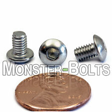 4mm x 0.70 x 6mm - Qty 10 - A2 Stainless Steel BUTTON HEAD Screws ISO 7380 M4