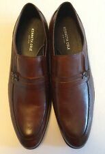 KENNETH COLE Men's SUPER CHIEF LOAFERS Brown Genuine Leather Shoes NEW Size