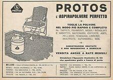 Z0209 PROTOS l'Aspirapolvere perfetto - Pubblicità del 1928 - Advertising