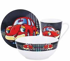 Kaiserhoff KH-11030044 Childrens 3 Piece Porcelain Dinner Set Bowl Mug Plate