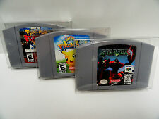 50 N64 CARTRIDGE PROTECTORS Clear Cases / Boxes  Nintendo 64 Video Game Carts
