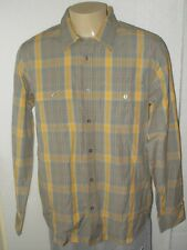 TOES ON THE NOSE LONG SLEEVE PLAID BUTTON-FRONT CAMP SHIRT MEN LARGE