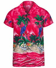 MENS HAWAIIAN SHIRT PARROT THEMED PARTY HOLIDAY BEACH FANCY DRESS STAG DO