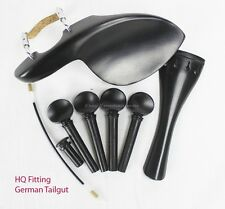 YDC Violin Ebony Fitting 8 Piece Set ------German Tailgut ----Guarneri Chinrest