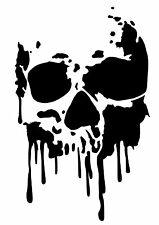 High Detail Dripping Skull Airbrush Stencil - Free UK Postage