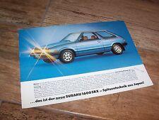 Prospectus / Single sheet brochure SUBARU 1600 SRX (Leone) 1981 //