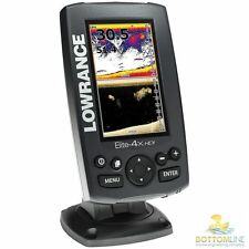 Lowrance Elite 4X HDI Fishfinder complete with Down scan transducer DSI 455/800