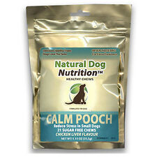 Calm Pooch Small Dogs Stress Separation Anxiety Relief Chicken Liver 21 Chews