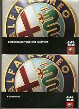 deutsches Handbuch Betriebsanleitung ALFA ROMEO 156 Ausgabe 6/1998 + Radioanleit
