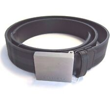 J-1077141 New Burberry Plaid Silver Buckle Belt Size-32/80