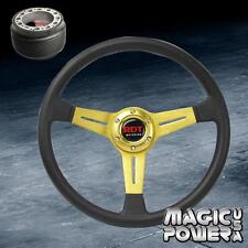 350mm Gold PU Deep Dish Steering Wheel & Hub Adapter For Honda Accord 1994-2014