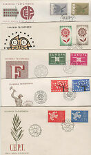 Greece FDC 1961 1962 1963 1964 1965 Europa cept - 5 covers
