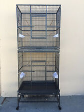 NEW LARGE Tall Double STACKER Wrought Iron Ferret Sugar Glider Animal Cage 576