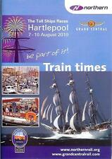 Northern Rail Grand Central train timetable loco hauled Hartlepool Tall Ships 10