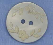 23mm Silver / Mother of Pearl 2 Hole Button
