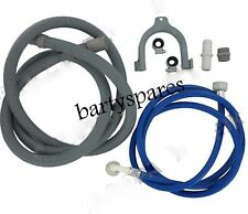 Washing Machine and Dishwasher Cold Fill Water & Drain Hose Extension Kit 2.5m