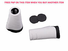 GIANT 92mm BIKE COMFORT HANDLEBAR GRIPS ERGONOMIC LOCK-ON WHITE + BLACK ENDS