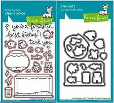 Lawn Fawn Photopolymer Clear Stamps-23ct + Dies FINTASTIC FRIENDS ~LF891, LF892