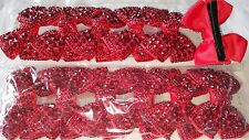 Joblot 12 pcs Red Bow Design Sparkly hairclips hairgrips wholesale