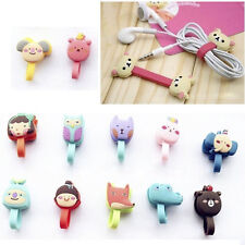 2x Cute Cartoon Earphone Winder Cable Cord Organizer Holder Phone Cable Holder