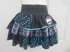 Monster High Frankie Stein Blue Plaid Black SKull Skirt Dress Up 4 6 8 OSFA