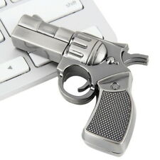 Revolver Gun Model USB2.0 Flash Pen Drive Memory U Stick Thumb Storage 4GB FT