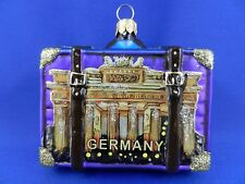 Germany Castle Travel Suitcase Brandenburg Gate Glas Christmas Tree Ornament 148