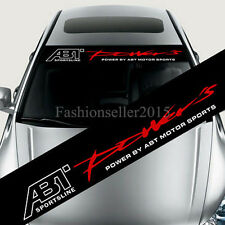New Reflective ABT Front Windshield Banner Decal Vinyl Car Stickers Car Styling